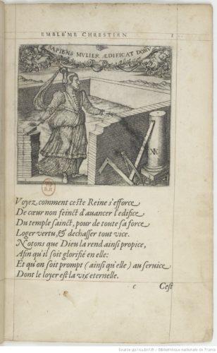 """Georgette de Montenay, """"Cent Emblesmes Chrestiens"""", 1571"""